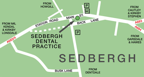map of Sedbergh - click here for larger version